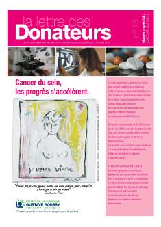 La lettre des donnateurs - Les soins esthétiques et le conseil en image : un vrai plus pour le cancer du sein