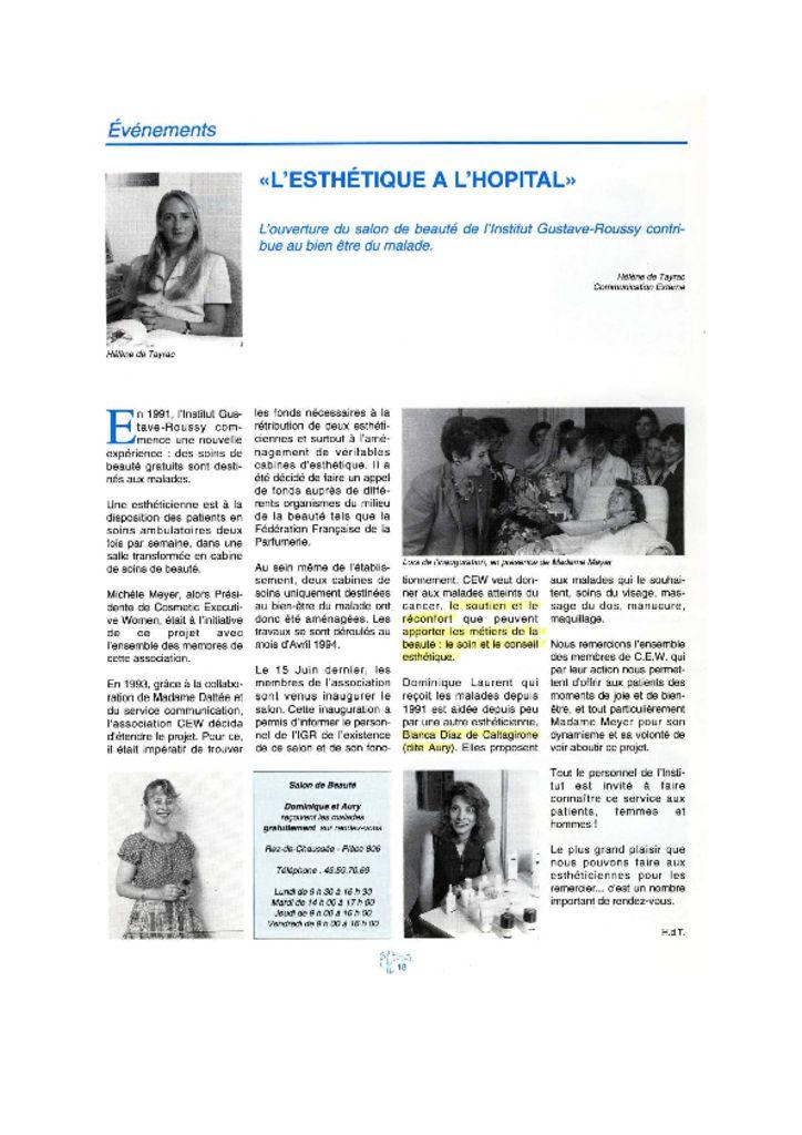 IGR Info - L'Esthétique à l'hôpital