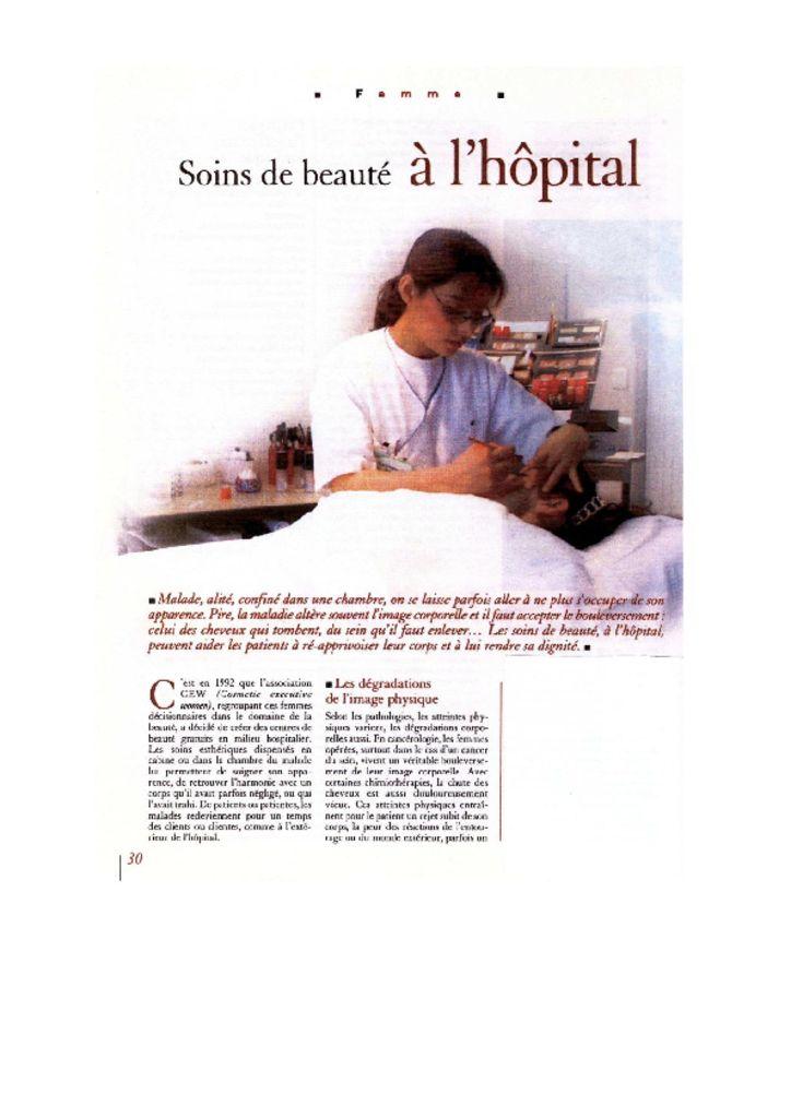 Corine Lorenzoni - Soins de beauté à l'hôpital