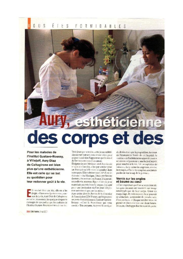Côté femme - Aury : esthéticienne des corps et des âmes
