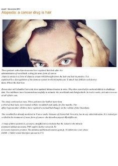 Beautyfox.tk - Alopecia a cancer drug is hair